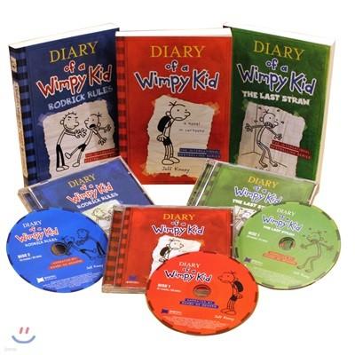 Diary of a Wimpy Kid #1-3 (Book & CD) : 윔피 키드 1-3 원서 & CD 세트