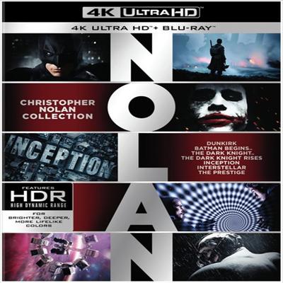 Christopher Nolan Collection (크리스토퍼 놀란 컬렉션: 다크 나이트 3부작 / 인셉션 / 인터스텔라 / 덩케르크) (한글무자막)(4K Ultra HD + Blu-ray)(Boxset)