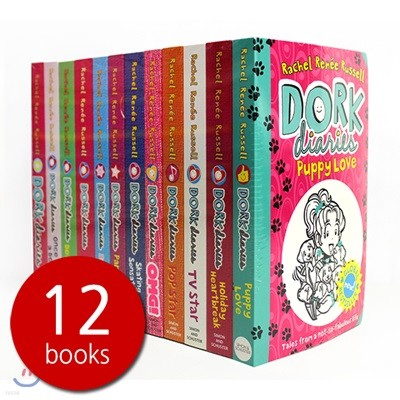 Dork Diaries 12 Books Collection : 도크 다이어리 원서 12권 세트 (영국판)