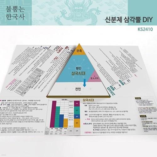 (가베가족)불뿜는한국사 삼각뿔 DIY 신분제 KS2410