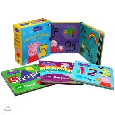 페파 피그와 배워요 원서 4종 박스 세트 (모양, 색깔, 숫자, 알파벳) : Learn with Peppa Pig