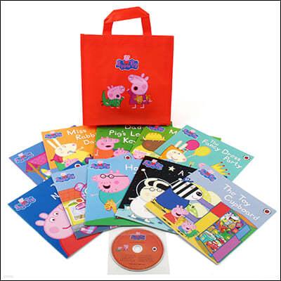 페파 피그 원서 페이퍼백 10종 세트 : Peppa Pig : Orange Bag [10 books & 1 CD]