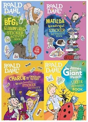 로알드달 스티커북 4종 세트 (영국판) : Roald Dahl's Sticker Book Collection