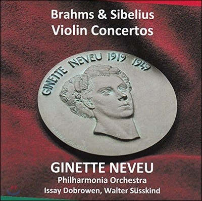 Ginette Neveu 브람스 / 시벨리우스: 바이올린 협주곡 - 지네트 느뵈 (Brahms / Sibelius: Violin Concertos)