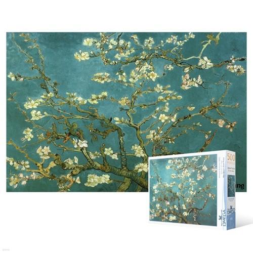 500피스 직소퍼즐 - 꽃이 핀 아몬드 나무 4
