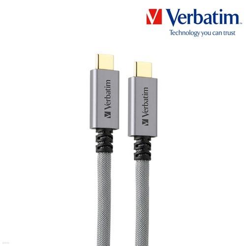 버바팀 메탈릭 USB 3.2 타입C to C 100W PD 고속 충전 케이블 맥북 LG 그램 닌텐도 스위치 노트북 삼성 갤럭시S20 갤럭시노트10