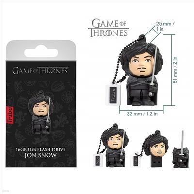 Tribe - (트라이브)Tribe Fd032505 Game of Thrones Jon Snow 16gb Usb Flash Drive (왕좌의게임)(존 스노우)
