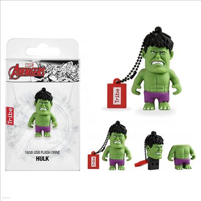 Tribe - (트라이브)Tribe Fd016502 Marvel Avengers Hulk 16gb Usb Flash Drive (마블)(어벤져스)(헐크)