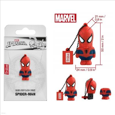Tribe - (트라이브)Tribe Fd016505 Marvel Avengers Spiderman 16gb Usb Flash Drive (마블)(어벤져스)(스파이더맨)
