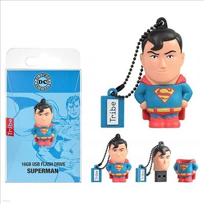 Tribe - (트라이브)Tribe Fd031501 DC Comics Superman 16gb Usb Flash Drive (디씨 코믹스)(슈퍼맨)