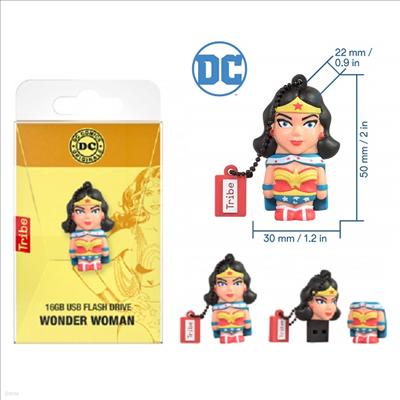 Tribe - (트라이브)Tribe Fd031503 DC Comics Wonder Woman 16gb Usb Flsh Drive (디씨 코믹스)(원더우먼)