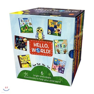Hello World 6 book Boxed Set 헬로 월드 처음 만나는 세계 보드북 6종 박스 세트