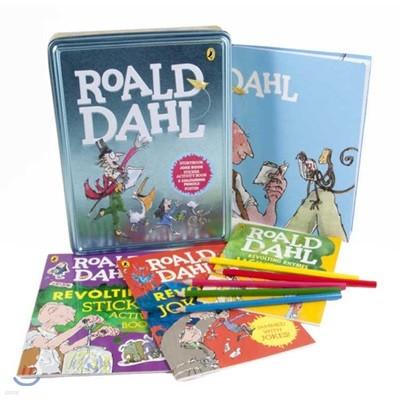 로알드달 원서 & 틴케이스 세트 (스토리북, 액티비티북, 스티커북, 포스터, 색연필 5개, 틴케이스) : Roald Dahl Book and Tin