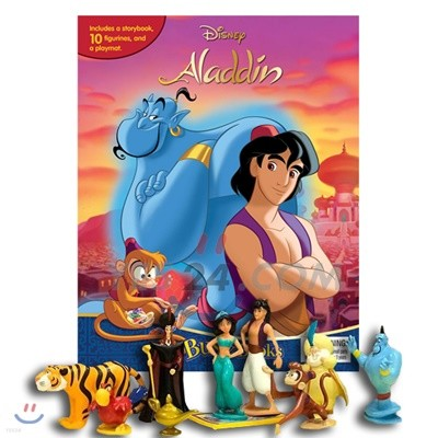 Disney Aladdin My Busy Book 디즈니 알라딘 비지북 피규어 책