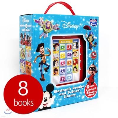 Me Reader & 8 books Library : Mickey Mouse, Toy Story and More! 디즈니 픽사 어드벤처 미리더 사운드북 (뮬란, 아기코끼리 덤보, 레이디의 모험, 인크레더블, 미키마우스와 친구들, 피노키오, 백설공주, 토이스