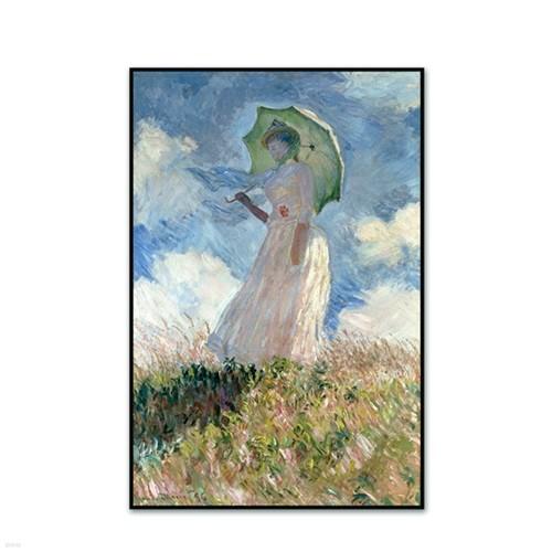 [The Bella] 모네 - 왼쪽에서 본 양산을 든 여인 Woman with a Parasol Facing Left