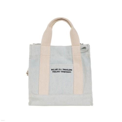 [비아모노] DAILY MINI CANVAS BAG (DENIM) 에코백 토트백 미니크로스백 가방
