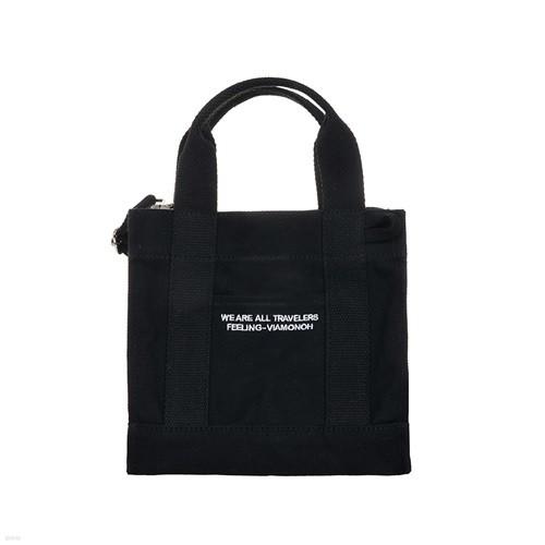 [비아모노] DAILY MINI CANVAS BAG (BLACK) 에코백 토트백 미니크로스백 가방