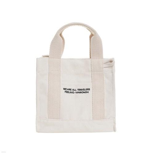 [비아모노] DAILY MINI CANVAS BAG (IVORY) 에코백 토트백 미니크로스백 가방