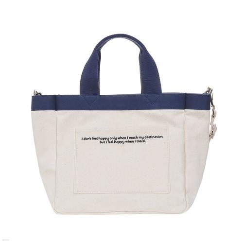 [비아모노] DAILY MINI TOTE CANVAS BAG (IVORY) 에코백 토트백 미니크로스백 가방