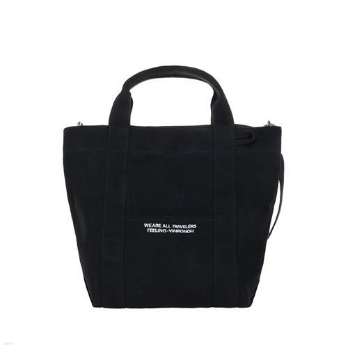 [비아모노] DAILY TOTE CANVAS BAG (BLACK) 에코백 토트백 크로스백 가방