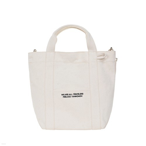 [비아모노] DAILY TOTE CANVAS BAG (IVORY) 에코백 토트백 크로스백 가방