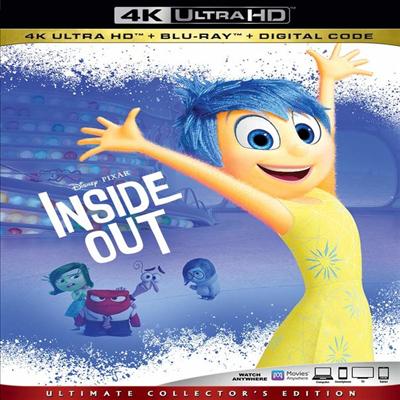 Inside Out (인사이드 아웃) (2015) (한글무자막)(4K Ultra HD + Blu-ray + Digital Code)