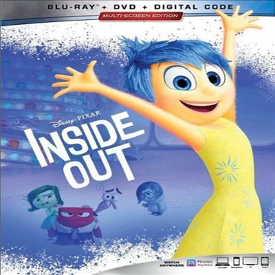 Inside Out (인사이드 아웃) (2015) (한글무자막)(Blu-ray + DVD + Digital Code)