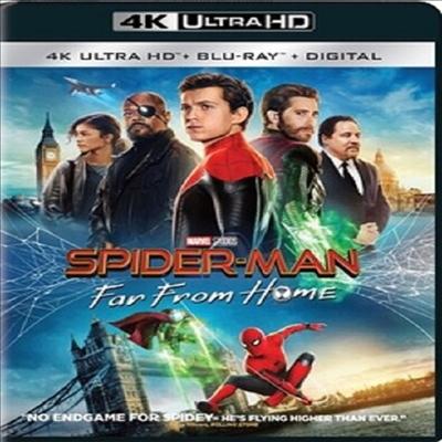Spider-Man: Far From Home (스파이더맨: 파 프롬 홈) (4K Ultra HD+Blu-ray)(한국어 자막지원)