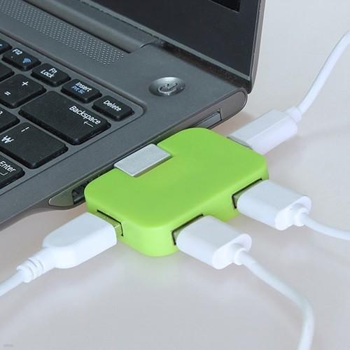 아이클 4포터 휴대용 미니 폴더형 USB허브