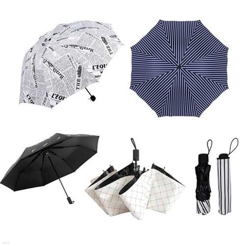 휴대용 3단 우산  우산 겸 양산 패턴우산