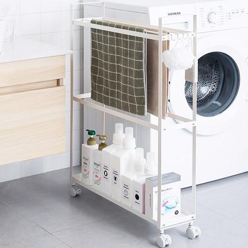 화이트메탈 세탁기 틈새 수납함