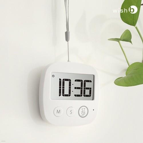 디지털 타이머 스탑워치 LED 알람 W100