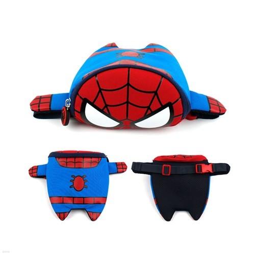 스파이더맨 피기백 힙색 마블 캐릭터모형 가방