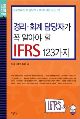 경리 회계 담당자가 꼭 알아야 할 IFRS 123가지 - 초보자를 위한 실무 시리즈 13