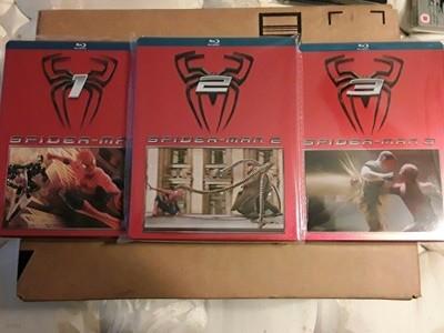 스파이더맨 1,2,3 일본 스틸북 Spiderman Blu Ray Japan Steelbook Trilogy