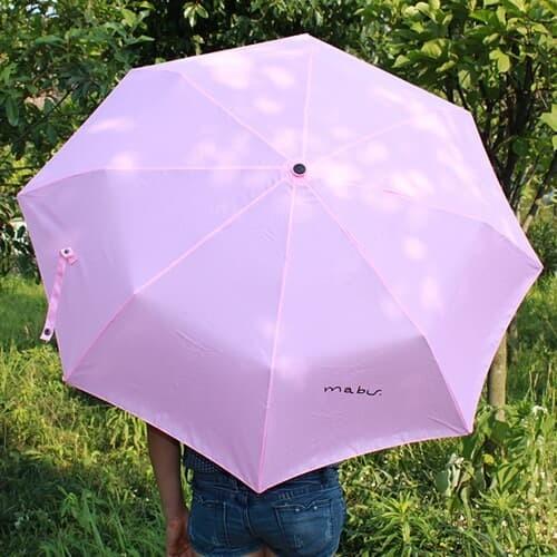 팬시 싱글컬러 3단 우산겸 양산