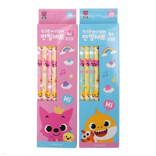 핑크퐁 아기상어 연필4본세트