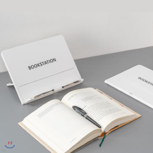 북스테이션 독서대[화이트] 패드타입의 휴대용 접이식 독서대