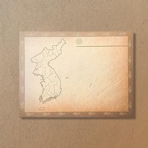 한국사 공부를 위한 지도 빈티지 떡메모지