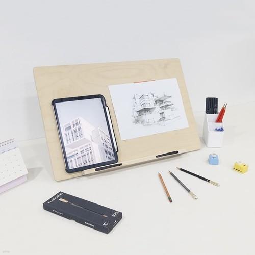 데스크이젤(소) WDE07 리딩데스크/책장잡이 경사스탠드 각도조절 보조책상