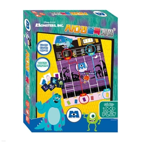 디즈니 몬스터주식회사 사다리 블록 보드 게임