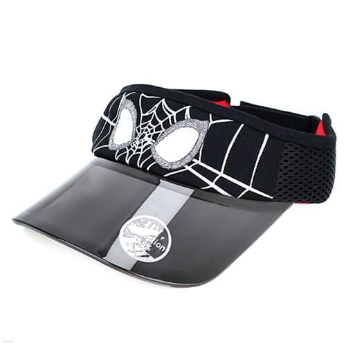 스파이더맨 블랙 UV 썬캡 마블 아동모자 MV0502