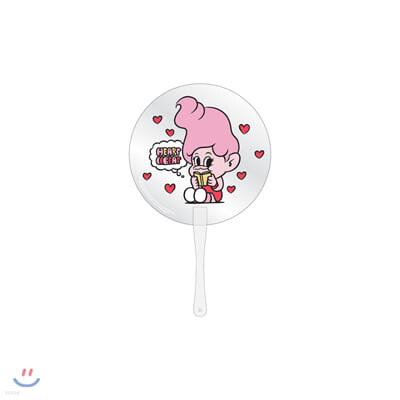 레드벨벳(Red Velvet Loves GOOD LUCK TROLLS) - CLEAR FAN_PINK
