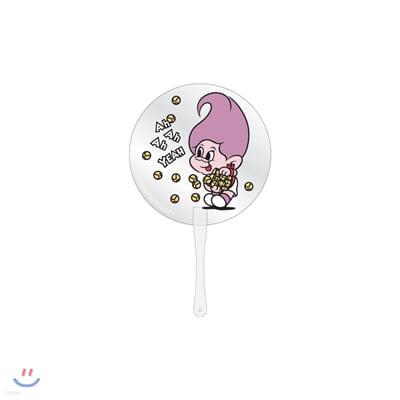 레드벨벳(Red Velvet Loves GOOD LUCK TROLLS) - CLEAR FAN_PURPLE