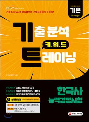 2021 한국사능력검정시험 기본[4~6급] 기출 분석 키워드 트레이닝