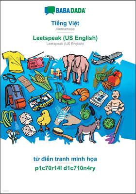 BABADADA, Ti?ng Vi?t - Leetspeak (US English), t? đi?n tranh minh h?a - p1c70r14l d1c710n4ry: Vietnamese - Leetspea