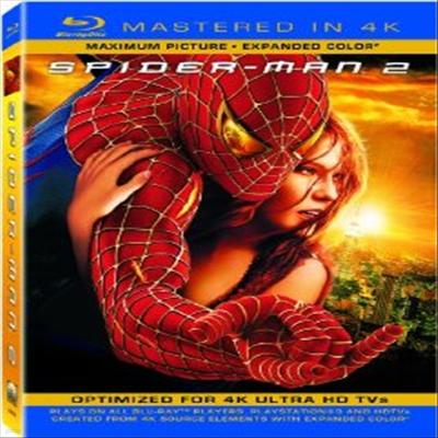 Spider-Man 2 : Mastered in 4K (스파이더맨2) (한글무자막)(Single-Disc Blu-ray + Ultra Violet Digital Copy) (2004)