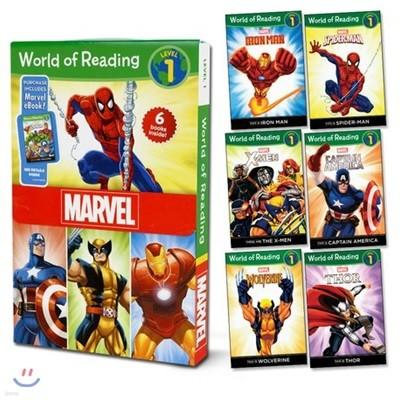 월드 오브 리딩 6종 세트 레벨 1 : 마블 : World of Reading Level 1 Set : Marvel