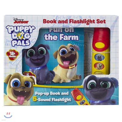 Disney Junior Puppy Dog Pals : Pop-Up Book and Flashlight Set